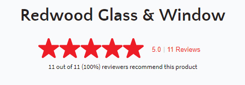 Redwood Glass & Windows is rated 5 stars!