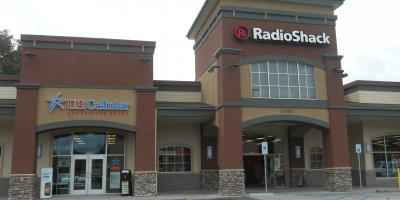 Storefront installation at Strongs Creek Plaza in Fortuna, CA.