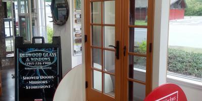 Milgard Ultra woodclad door with operable sidlite