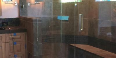 1/2 glass door and panel