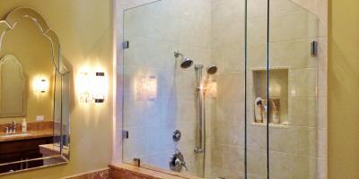 3/8 glass shower door with clamps