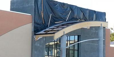 Wasco Canopy and storefront Fine Arts Building Aracta Calif