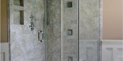 steam shower with clamps
