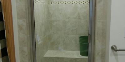Steam shower door